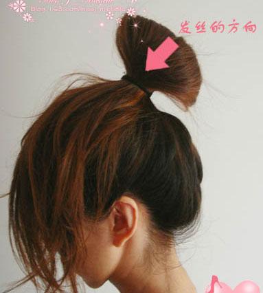 > 网兜职业头发扎法图解_头发网兜  4款简单编发发型扎法图解 夏天