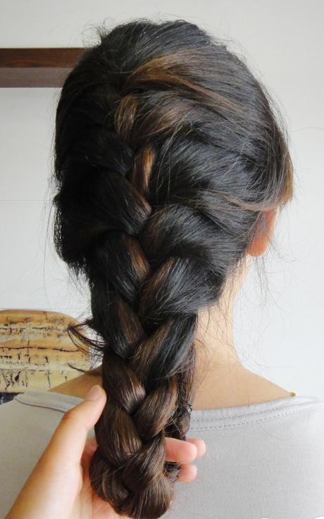 长头发的扎法图解(四) 扎头发网