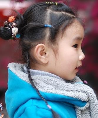 儿童扎头发教程图解