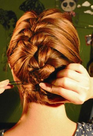 长发扎头发的方法