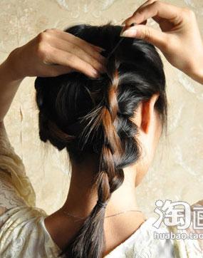 扎头发的方法图解_扎头发的方法