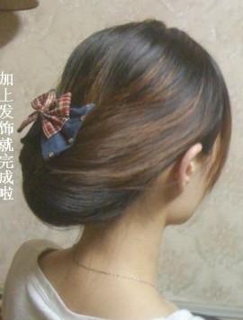 韩式盘头发步骤图解》》90后绑头发步骤图解》》儿童