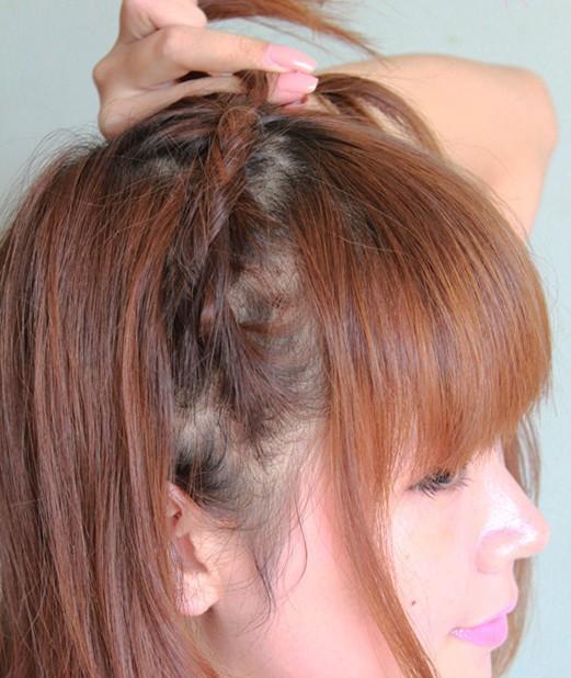 中短发发型扎法图解