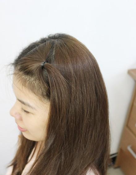 绑头发的方法图片_扎头发的方法图解(二)-扎头发网