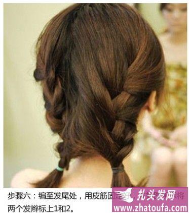 design 可爱女星赵丽颖图片张  刘海编发教程-扎头发网 明星壁纸