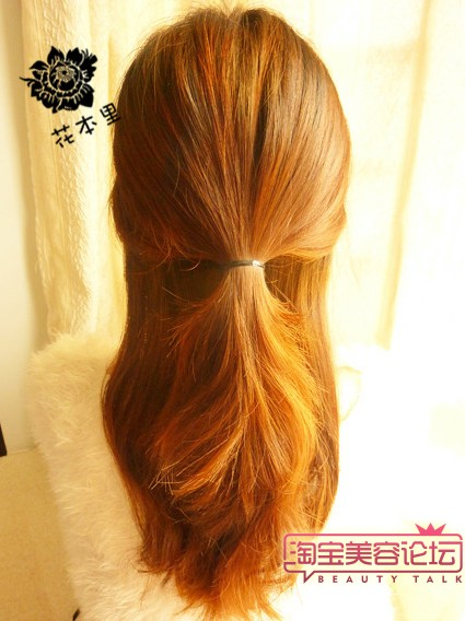 长头发的扎法图解
