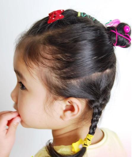 儿童扎头发的方法图解(二)