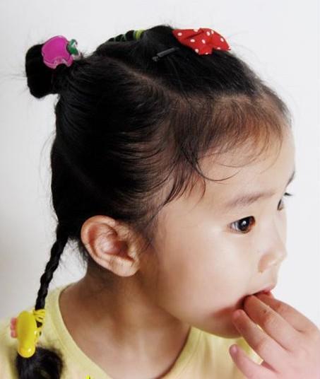 头发发型_儿童扎头发大全短发_儿童简单扎头发图