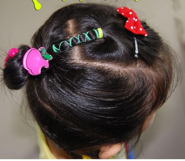 儿童各种扎头发的方法_儿童扎头发简单方法图片