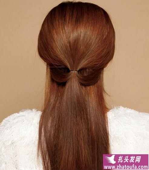 斜刘海发型图片