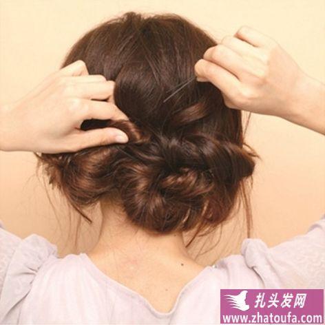 蓬松系盘发方法(三)