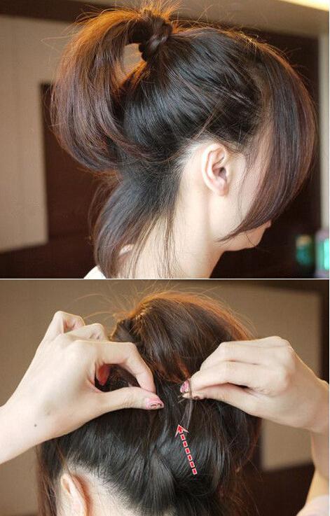 卷发如何扎好看视频_扎头发_教你如何扎头发好看_扎头发的方法图解与视频-扎头发网