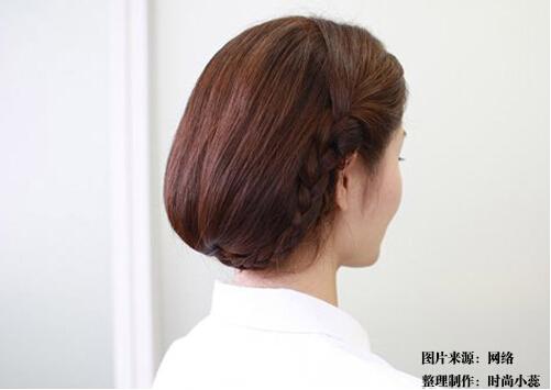 波波头扎法图解 长发快速变短发