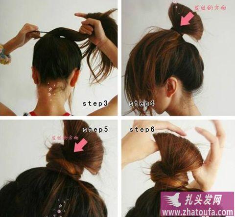 扎头发简单好看的步骤