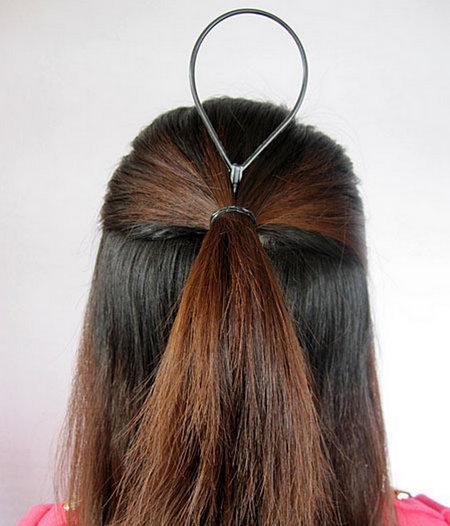 韩式扎头发方法,都很简单