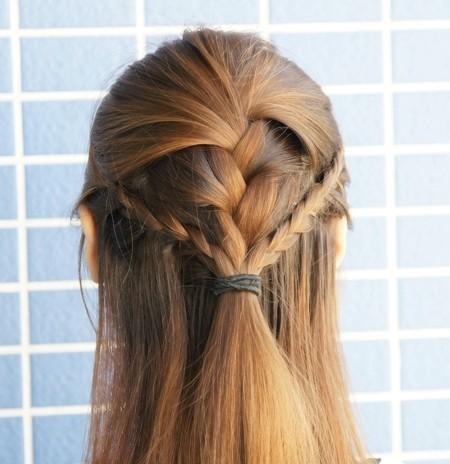 三蜈蚣辫公主头简单编发;; 简单梳头发型步骤; 公主头-韩式发型