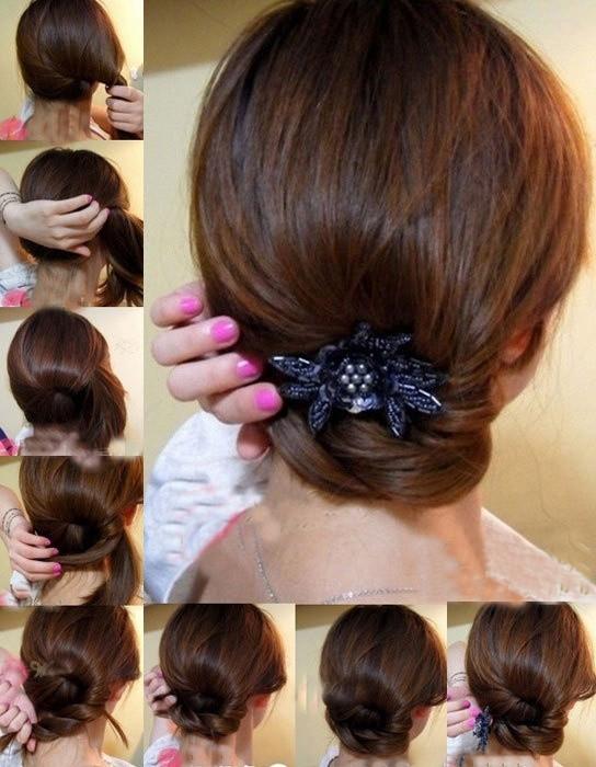 盘头发的40种方法 你会几种 扎头发网-扎头发的方法图解 扎短头发的方