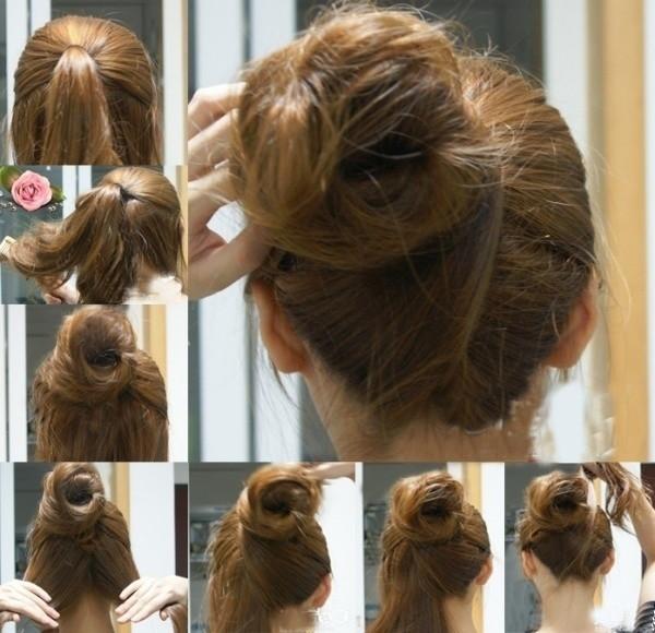 盘头发的40种方法 你会几种?(五) 扎头发网