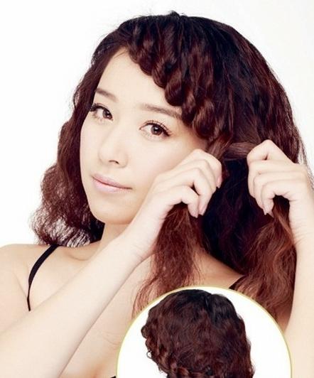 最简单的编头发的步骤_简单编头发花样步骤